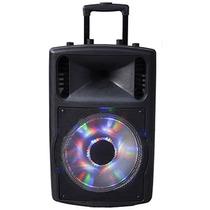 Cx Amplif 12 Pol. Usb Bateria Rec. Rodinha Mic S Fio Cont