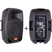 Kit Caixa Som Ativa 10 + Caixa Passiva 10 120watts 60 + 60w