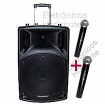 Caixa Som Amplificada Ecopower Eps201 201 250w Bluetooth Usb