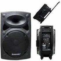 Caixa Ativa 15 Pol. Ep1292 Com 2 Microfones S/ Fio