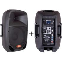 Caixa Som Ativa 10 + Caixa Passiva 10 120watts 60 + 60w Kit