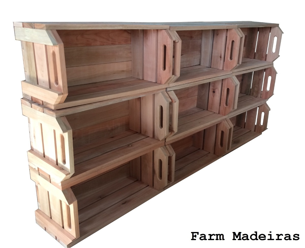 caixas caixotes de feira em madeira de reflorestamento #946F37 1200x977