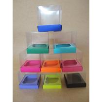 10 Caixas De Acetato Para Cupcake Colorida R$ 17,00