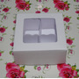 100 Caixas P/4 Trufas/doces Ou Lembrancinhas- Cor Branca