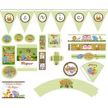 Moldes Limpos Kit Festa Digital Infantil - Vetor - Coreldraw