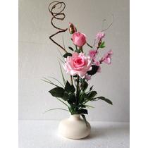 Arranjo De Flores Artificiais Com Rosas