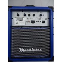 Caixa Multi Uso Mackintec Young X150 Usb/fm 15w Azul Frete G
