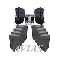 Line Array C/ Sub 1x12+ti Snake Hpx2120 Amps Machine - 4vias