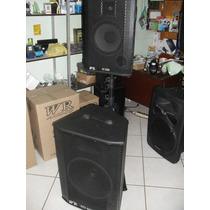 Kit Cx Ativa Hd-4600+passiva H-3200 C/usb,sd,radio,pedestal