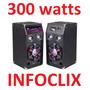 Par Caixas Som Ativa 300w Bluetooth Fm Usb Sd Leadership