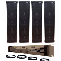 Kit 4 Line Array Passiva Jbl 4x8 + Amplificador 7200rms
