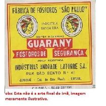 Imã De Geladeira Rótulo De Fósforo Antigo Guarany
