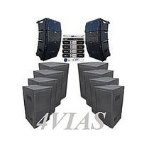 Line Array C/ Sub 1x12+ti Snake Hpx2120 Amps Machine - 4vias