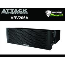 Caixa Line Array Attack Vrv206 A 2 Vias Com Limiter 350 W