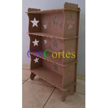 Armário Mdf Provençal Estrelas Desmontável Decoração Estante