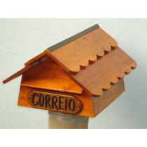 Caixa De Correio / Cartas Colonial. Madeira Maciça Artesanal