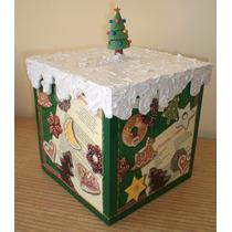 Caixa Para Panetone De 500g. Biscoitos De Natal