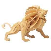 Animais Leão 3d Em Madeira Mdf Cru Artesanato
