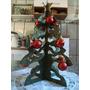Mini Arvore De Natal Em Mdf Com Bolinhas Vermelhas