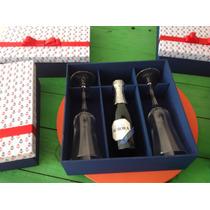Caixa Para Vinho E Duas Taças Personalizada
