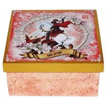 Caixa Porta-objetos Mdf Decoupage Decoração São Jorge