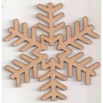 Kit Flocos De Neve Frozen - 20 Peças Com 15 Cm Cada