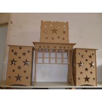 1 Mesa Provençal + Cx Presente + 2 Cubos Tudo Desmontável