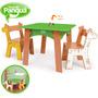 Mesa Com Cadeiras Amigo Bicho (infantil) Toca Do Pangua