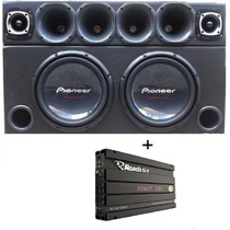 Caixa Trio 2 Pioneer W310 + Corneteira 3880 Watt + Power One