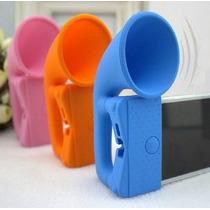 Case P/ Iphone 5 E 5s Portátil Silicone Amplificador Sonoro