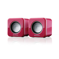 Mini Caixa De Som P/ Pc E Notebook Rosa 4w Multilaser Sp103