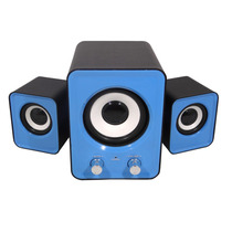 Caixa De Som 2.1 Sub Woofer 20w Rms P2 Pc Notebook Ipod Mp3