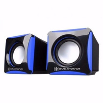 Mini Caixa De Som Black 2.0 - Sub Woofer/ P2/ Super Potente