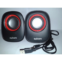 Mini Caixa De Som Usb 2.0 5w Rms Exbom Cs-89