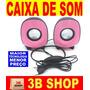 Caixa Caixinha Som Portátil Usb Celular Pc Notebook