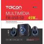 Caixa De Som Multimidia Taicon, Fm/usb/sd/bluetooth