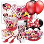 Kit Aniversário Festa Infantil Minnie Vermelha 50 Convidad