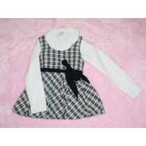 Conjunto Festa Infantil Calça Camisa Colete Outono Inverno