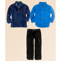 Conjunto Polo Ralph Lauren Calça Camisa Pulôver Sueter Infan