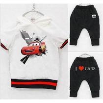 Conjunto Infantil Carros Mcqueen Camisa Calça Meninos