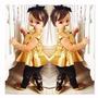 Conjunto Importado Infantil Calça Cirre Blusa Dourada 2 Anos