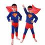 Fantasia Do Super Homem Infantil Longo Festa