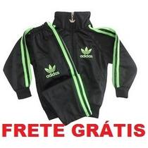 Conjunto Abrigo Agasalho Adidas Infantil Frete Grátis