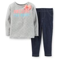 Set Legging Jeans E Blusa Moletinho Importado Eua - 24meses