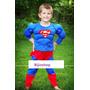 Fantasia Infantil Super Homem Tamanho 3 Com Musculos