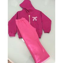 Conjunto Infantil De Inverno Rosa Tamanho - 2
