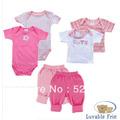 Kit 2 Camisetas, 2 Bodys, 2 Calças Baby 0 A 6 Meses
