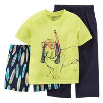 Pijama Infantil Menino 3 Peças Dog Tamanho 4 Anos Carters