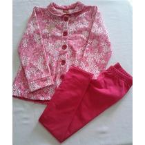 Conjunto De Moleton Feminino Infantil Floral /cotton Kyly