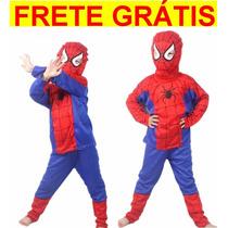 Fantasia Homem Aranha Infantil Spiderman Frete Grátis